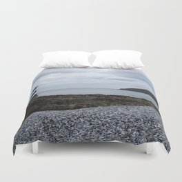 Trwyn Du Lighthouse And Puffin Island Duvet Cover
