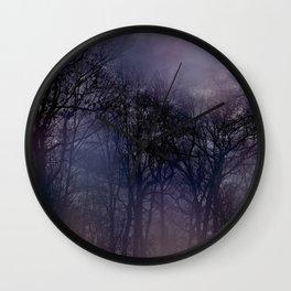 Nightfall in the Woods Wall Clock