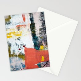 13th and Grant: a pretty street art piece in pink black and yellow by Alyssa Hamilton Art Stationery Cards