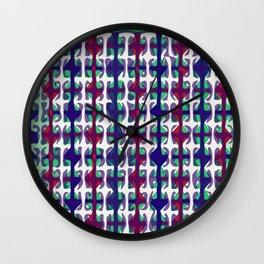 Asian color print Wall Clock