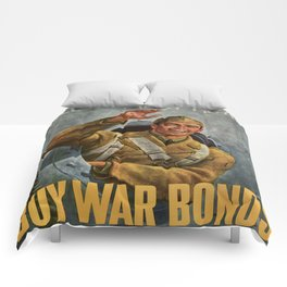 Vintage poster - Buy War Bonds Comforters