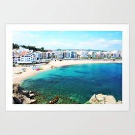 Beach at Blanes,Costa Brava. Art Print