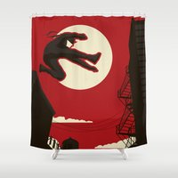 kitchen Shower Curtains featuring Hell's Kitchen by Danny Haas