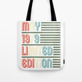 May Cool Vintage Retro Birthday Gift For Your Wife And Husband For Their 40th Birthday Natal Day Tote Bag