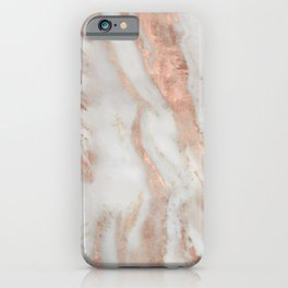 Rose-gold marble iPhone Case