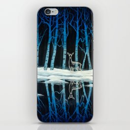 """""""The Forest of Dean"""" (Bob Ross-style Patronus Painting) iPhone Skin"""