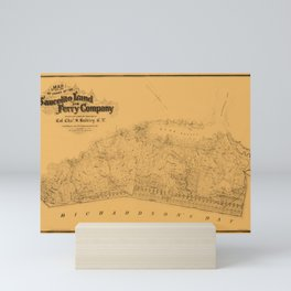 Map of Sausalito 1868 Mini Art Print
