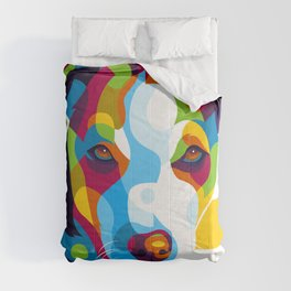 Colorful Dog Face Comforters
