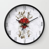 roman Wall Clocks featuring Roman Marble by Eleaxart