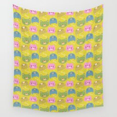 Happy Cats Wall Tapestry