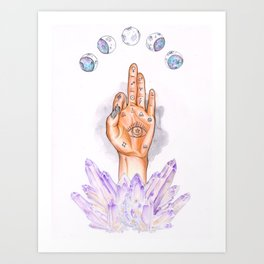 Astral Hand Art Print