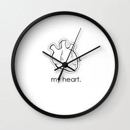 my heart. Wall Clock