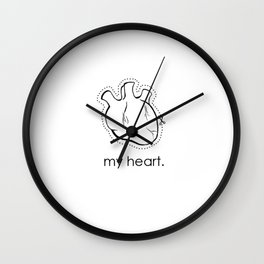my heart. Wall Clock