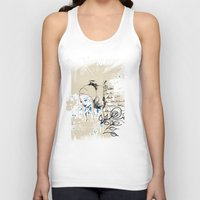 letter Tank Tops featuring Letter by Irmak Akcadogan