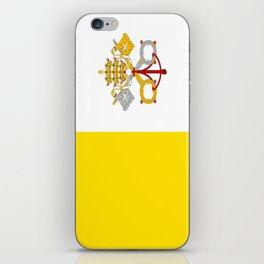 Flag of vatican city iPhone Skin