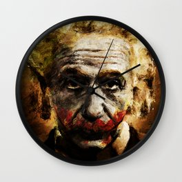Einstein The Joker (Relatively Funny) Wall Clock
