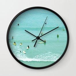 Surfing vintage. Summer dreams Wall Clock