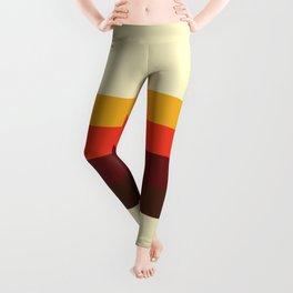 retro color palette 60s Leggings