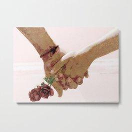 Heart hands Metal Print