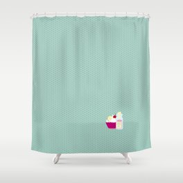 Eat me, drink me Shower Curtain