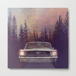 Vintage Mustang Pines Metal Print