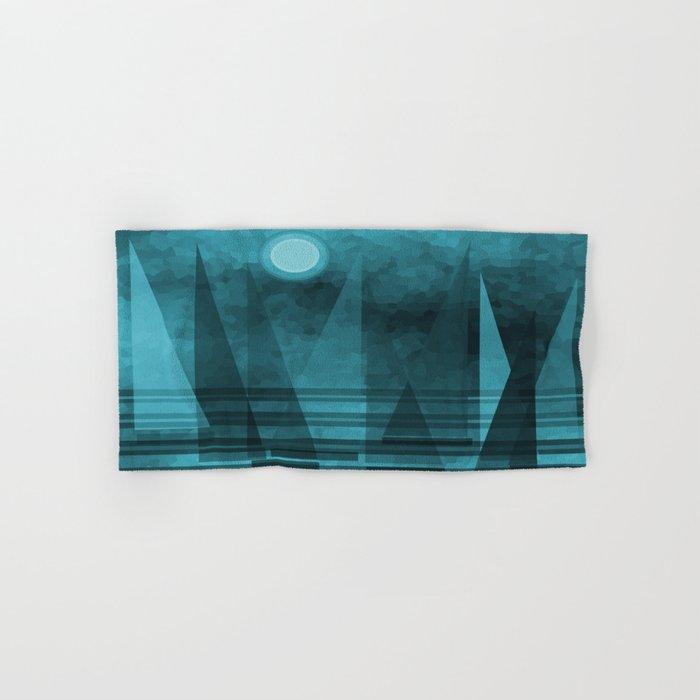 Blue Moonlight Sail Hand & Bath Towel