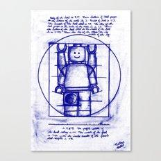 LEGO Vitruvian (Mini)-Figure  Canvas Print