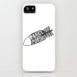 peace is not possible hand lettering illustration iPhone Case