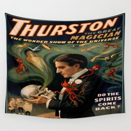 Vintage poster - Thurston the Magician Wall Tapestry