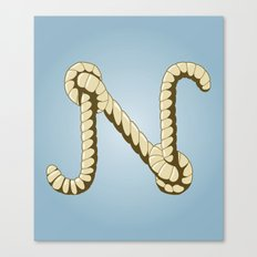 Alphabet N Canvas Print
