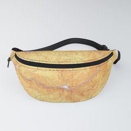 Las Plumas, CA from 1950 Vintage Map - High Quality Fanny Pack