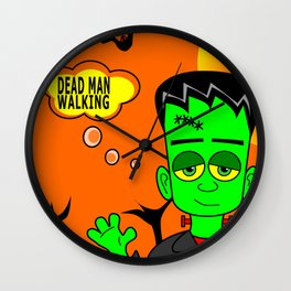 Funny Cartoon Green Monster Wall Clock