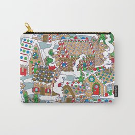 Gingerbread Village Carry-All Pouch