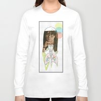 lungs Long Sleeve T-shirts featuring lungs by Cassidy Rae Marietta