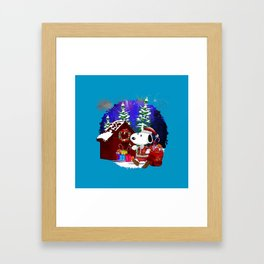 Snoopy Winter Xmas Christmas Framed Art Print