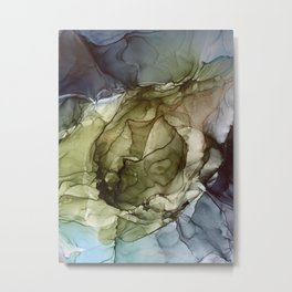 Calm Nature- Earth Inspired Abstract Painting Metal Print