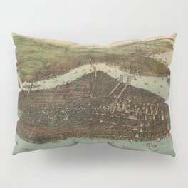 Vintage Pictorial Map of New York City (1905) Pillow Sham