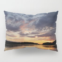 Spring Sunset - beautiful colors and reflections - cloudy sky #decor #society6 #buyart Pillow Sham