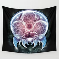 metroid Wall Tapestries featuring The Epic Metroid by Barrett Biggers