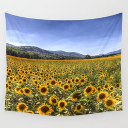 Sunflower Summer Field Wall Tapestry