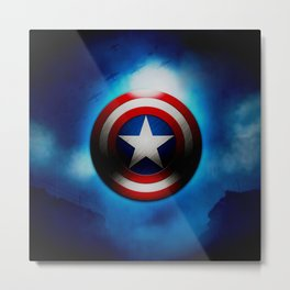 Captain Shield - Steve Roger Metal Print