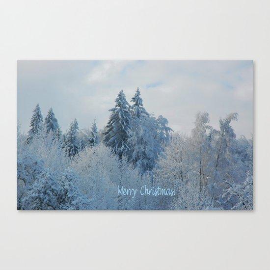 After the snowfall (Merry Christmas!) Canvas Print