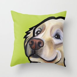 George the golden retriever Throw Pillow