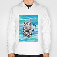 rubyetc Hoodies featuring stripy fella by rubyetc