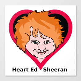 Heart Sheeran Canvas Print
