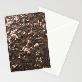 Glitter Rose Gold Shimmering Mother of Pearl Nacre Stationery Cards