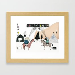Here with Me Framed Art Print