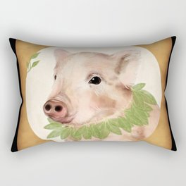 bayleaves and boar Rectangular Pillow