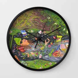 Ophelia Except It's Me Just Vibing Wall Clock