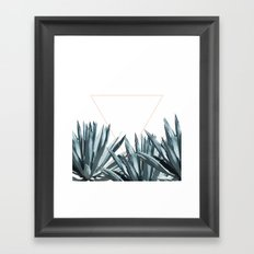 Agave Triangle Framed Art Print